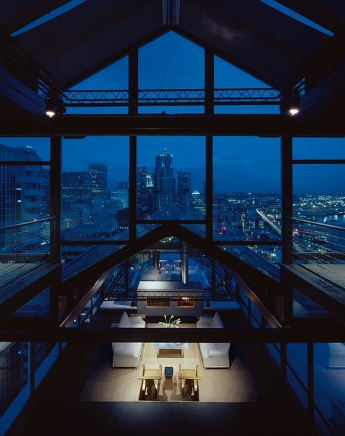interiordecline:  justthedesign:  Penthouse By Rocky Rochon  Hot damn