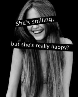 She's smiling, but she's really happy?