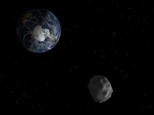Asteroid passed between Earth and moon earlier today Remember that asteroid that entered Earth's atmosphere and exploded over Russia two and a half weeks ago? An asteroid around that same size passed just inside the moon's orbit of Earth earlier this morning — and astronomers only discovered it two days ago. Yikes.