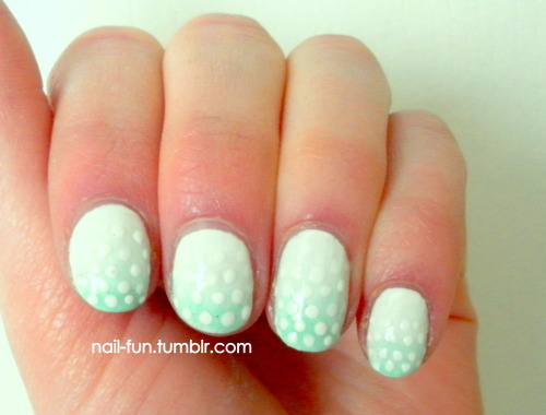 green gradient with dots!  tutorial coming soon!