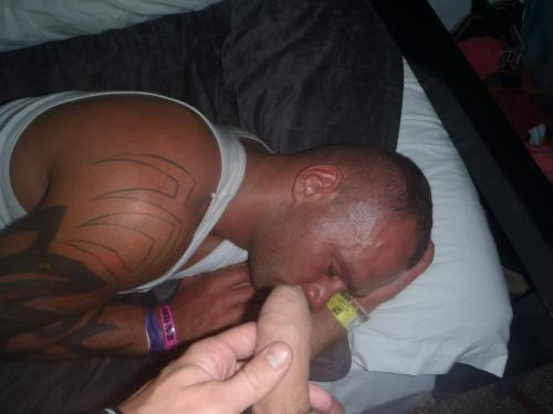 ukmilitarymen:  Soldier asleep on hol in Ibiza gets a nice dose of his mates cock