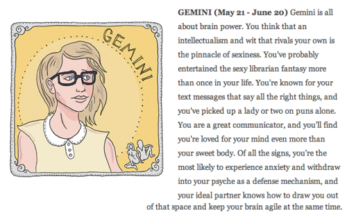 impulsible:  was just reading some horoscopes on AutoStraddle and I found mine to be pretty damn accurate a girl with knowledge and wit….unffff