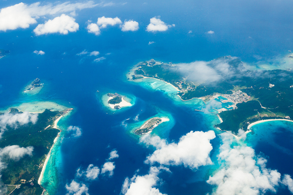 Japanese tropical islands and coral reefs from above, Kerama Islands, Okinawa [Explore] (by ippei + janine)