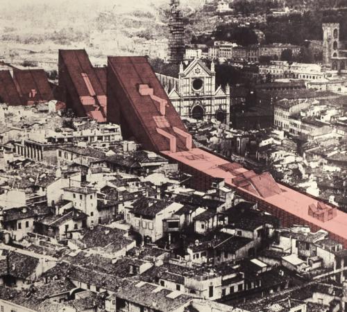 urban design utopia drawing collage