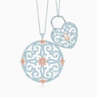 tiffanyandco:  Tiffany Enchant captivates with scrolls and blossoms of diamonds and 18k rose gold.