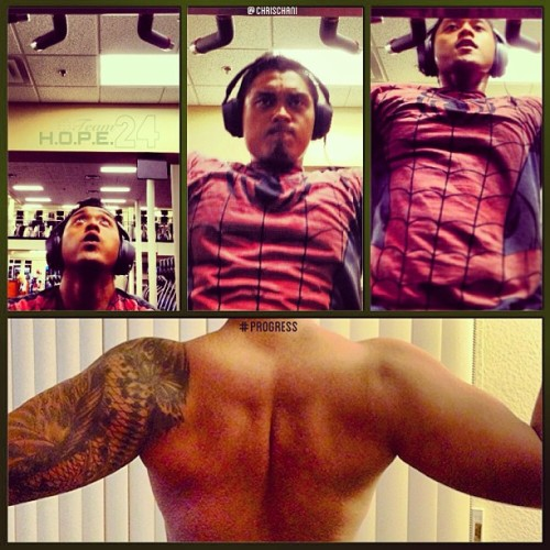 Back Progress. #pullups #teamhope24 #herbalife24 #back #spiderman (at LA Fitness)
