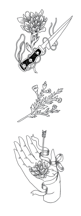 lemaddyart:  flowers- 2013, maddy young  maddy young's beautiful new lineworkings need to be seen