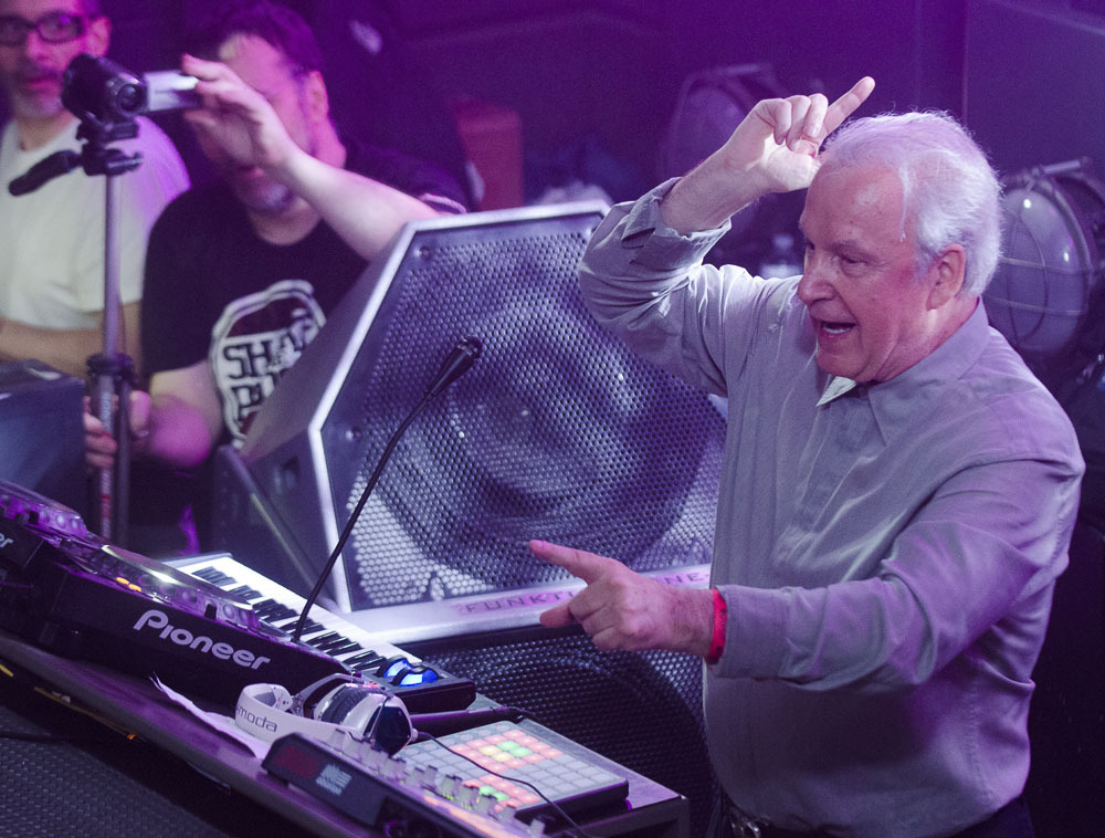 thedafthouse:  Giorgio Moroder's first DJ set in NYC - [LISTEN]