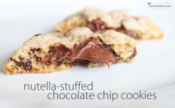 Nutella Stuffed Chocolate Chip cookies Recipe