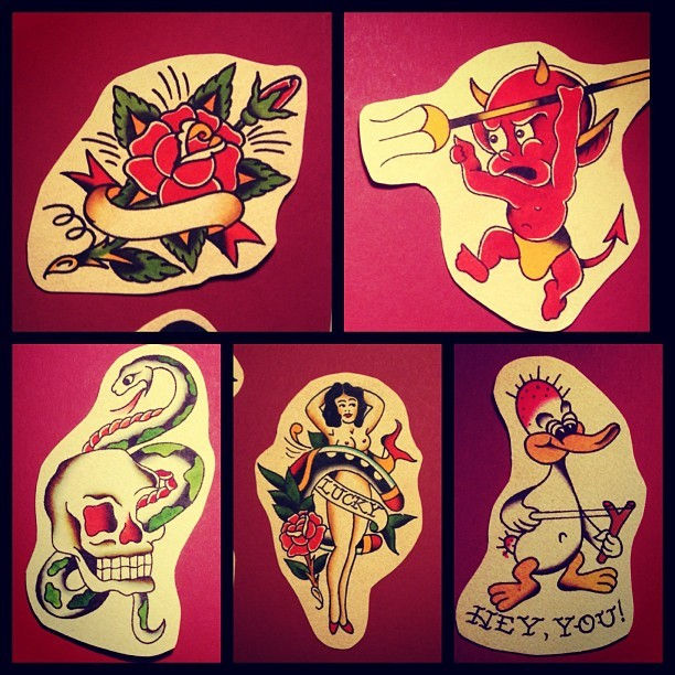 These 5 designs are still available out of my 50 free Sailor Jerry's. You pick pick it, I will stick it, and you tip it. To set up an appointment email me at danryanntn@gmail.com #tattoo #columbiamo #como #sailorjerry