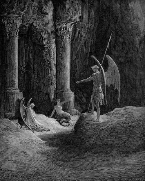brudesworld:  Paradise Lost by Gustave Dore, 1866.
