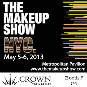 The Makeup Show NYC!!! • Sunday & Monday May 5-6, 2013 Stop by Crown Brush - Booth G1 Don't forget your Crown PRO card for extra savings!!!www.themakeupshow.com