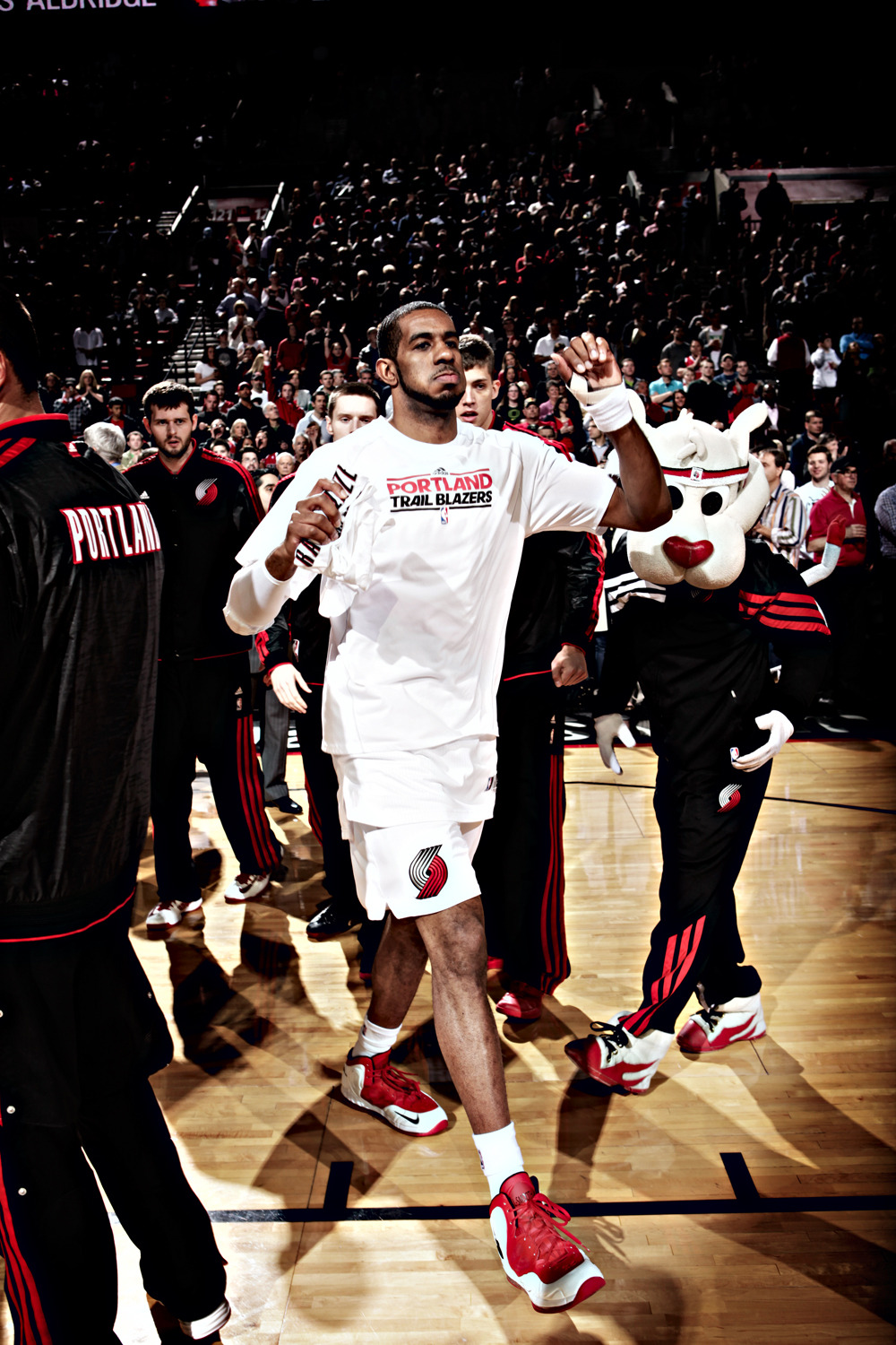 trailblazers:  LaMarcus Aldridge's Ever Expanding Offensive Repertoire  For the last two seasons, Aldridge spent 49.6 percent and 49 percent of his possessions in the post, whether finishing or passing the ball out according to Synergy Sports Technology. This past season Aldridge was in the post on only 39.6 percent of his possessions whether passing or shooting, ranking fifth in the league in points per possession on such plays, among players who did so on at least 300 possessions. It's still far and away the biggest part of his game, but how he's becoming a more useful player than just one who can score and pass out of a double-team in the post and hit a jumper on a pick and pop. Aldridge's use in pick and rolls and pick and pops has been the obvious uptick as he and Damian Lillard have formed a fantastic duo. Aldridge has also become more comfortable making moves off the moves, such as taking a dribble to get a shot off a pick and pop rather than just taking the jumper, which teams aren't letting him just get with ease anymore.  According to Synergy, 23 percent of Aldridge's jumpers in pick and pop plays came off the dribble. In 2010-2011, it was six percent and during the lockout shortened season it was 13.8 percent. Now, he's doing it more and improved his efficiency on those shots by .18 points per possession, a notable and encouraging increase. His dribble moves are more precise, quicker and effective.