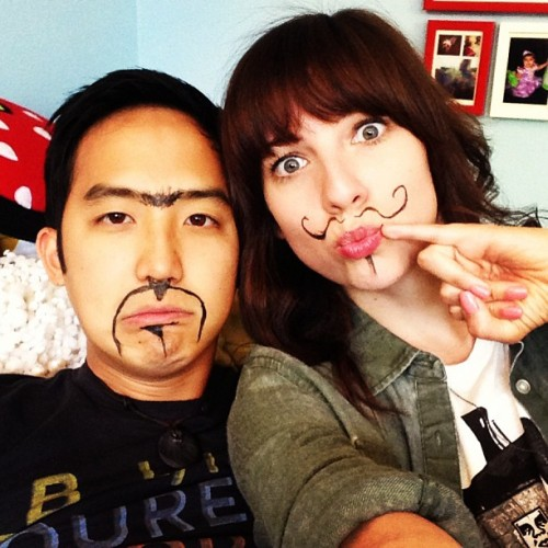 Things escalated quickly when @jfwong decided to do my makeup 😳 YouTube.com/Strawburry17