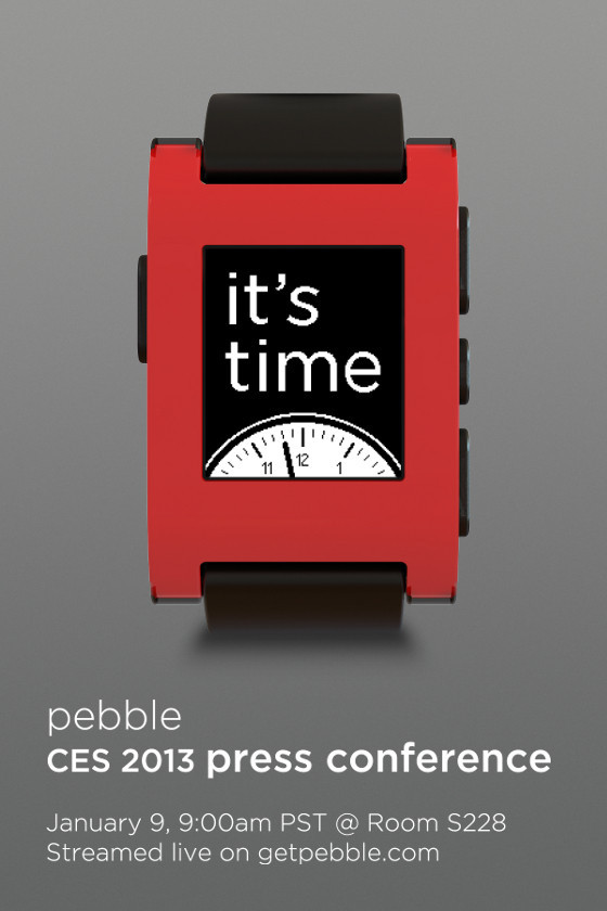 Pebble to share big news at CES, possible release