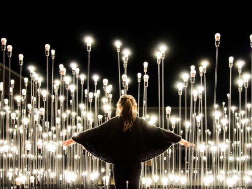 "LEDscape, An Installation of 1200 IKEA Floor Lamps ""LEDscape"" was an installation of 1,200 IKEA LED floor lamps at the Centro Cultural de Belém in Lisbon. Like Architects created the installation for IKEA as a promotion for the furniture giant's new LED bulbs. The installation was on display during the 2012 holiday season.        via: laughingsquid.com, Domus"
