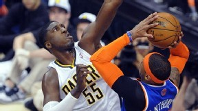 """This is who I am, I'm a rim protector, I'm a Georgetown Hoya,"" Hibbert joked during what he said was his first time being invited to the podium after a playoff game. ""You know the lineage."" (via Daily Dime - ESPN)"