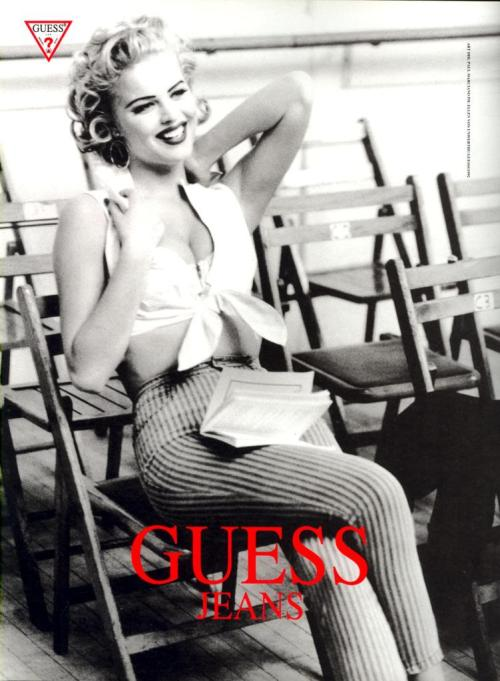 suicideblonde:  Eva Herzigova photographed by Ellen Von Unwerth for Guess F/W 1992