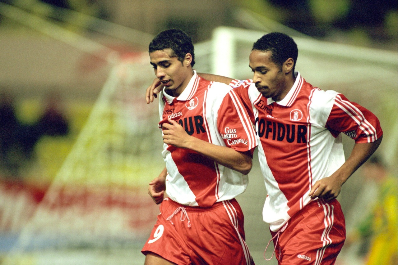 Teenagers David Trezeguet y Thierry Henry, AS Monaco, Temporada 1997/1998.