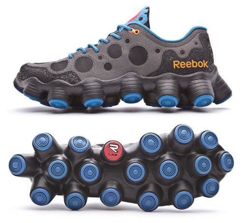 Reebok's new all-terrain shoe wants to put nipples on your shoe, because nipples Aiming to capture the essence of an all-terrain vehicle, Reebok has collaborated with UFC fighter Rampage Jackson to introduce the 'ATV 19+' training shoe. featuring irregular lugs, rugged overlays, a padded tongue and supportive collar for protection and comfort, the footwear implements high-speed stability and elevated traction with its distinctive design. Also, shoe nipples. Via