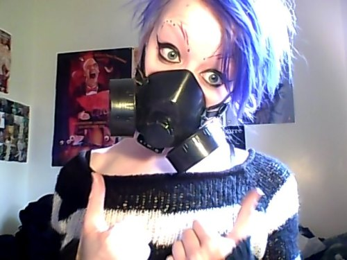 I love the fact i have to wear a respirator to make my masks :) x