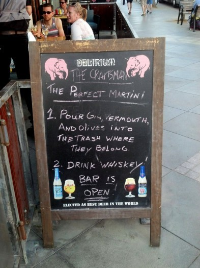 How to make the perfect martini… via Funny Signs