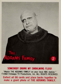 monsterman:  The Addams Family (1964 Topps Cards)
