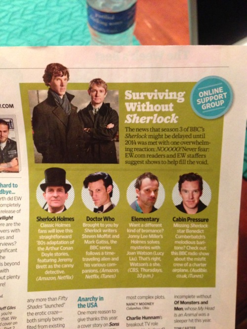 thatswhatsherlockdoes:  Surviving Without Sherlock… (they're on to us)