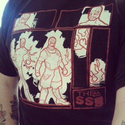 Wrestling Shirt Project day 42 features the Super Smash Brothers #WSP http://instagr.am/p/WBtFEYlfOY/