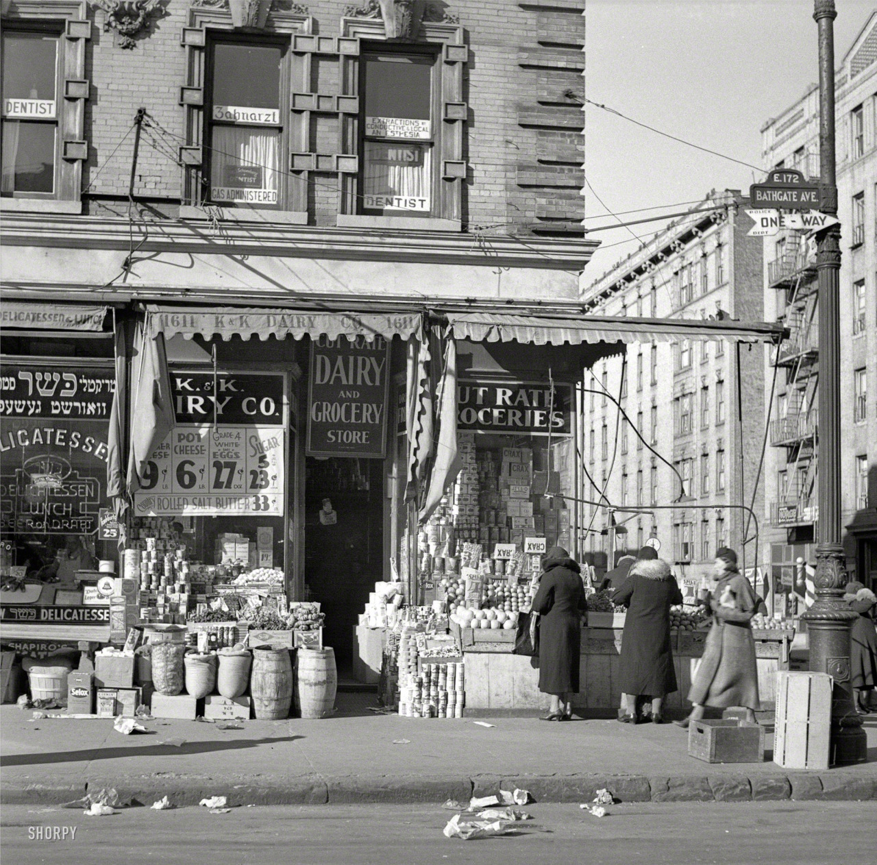 Scene on Bathgate Avenue in the Bronx, 1936. By Arthur Rothstein