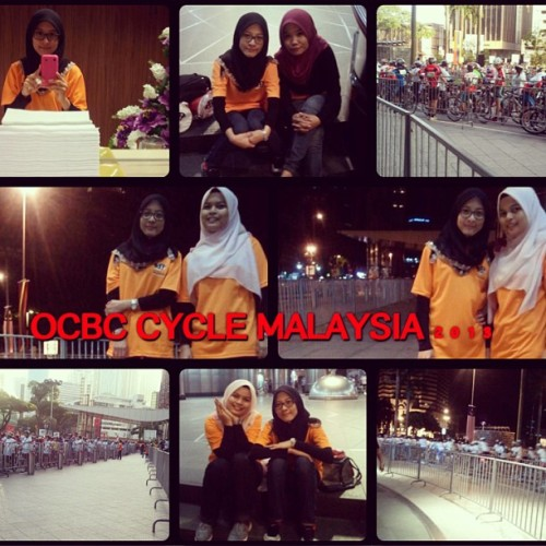 Volunteering for OCBC Cycle Malaysia 2013 event@suriaklcc  (at Suria KLCC)