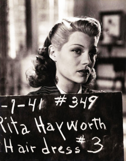 Rita Hayworth on the Columbia Pictures lot, circa 1944.