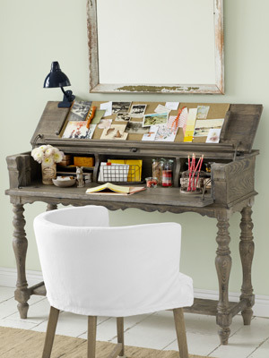 a country desk for small spaces