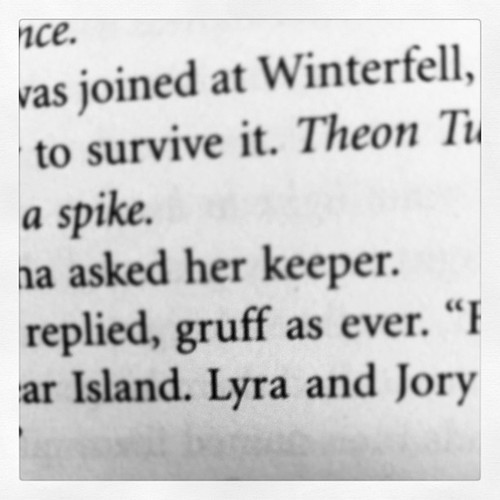 Lyra turns up as a character in George R R Martin's 'A Dance with Dragons' (part two) as the sister of Alysane Mormont (the she-bear).