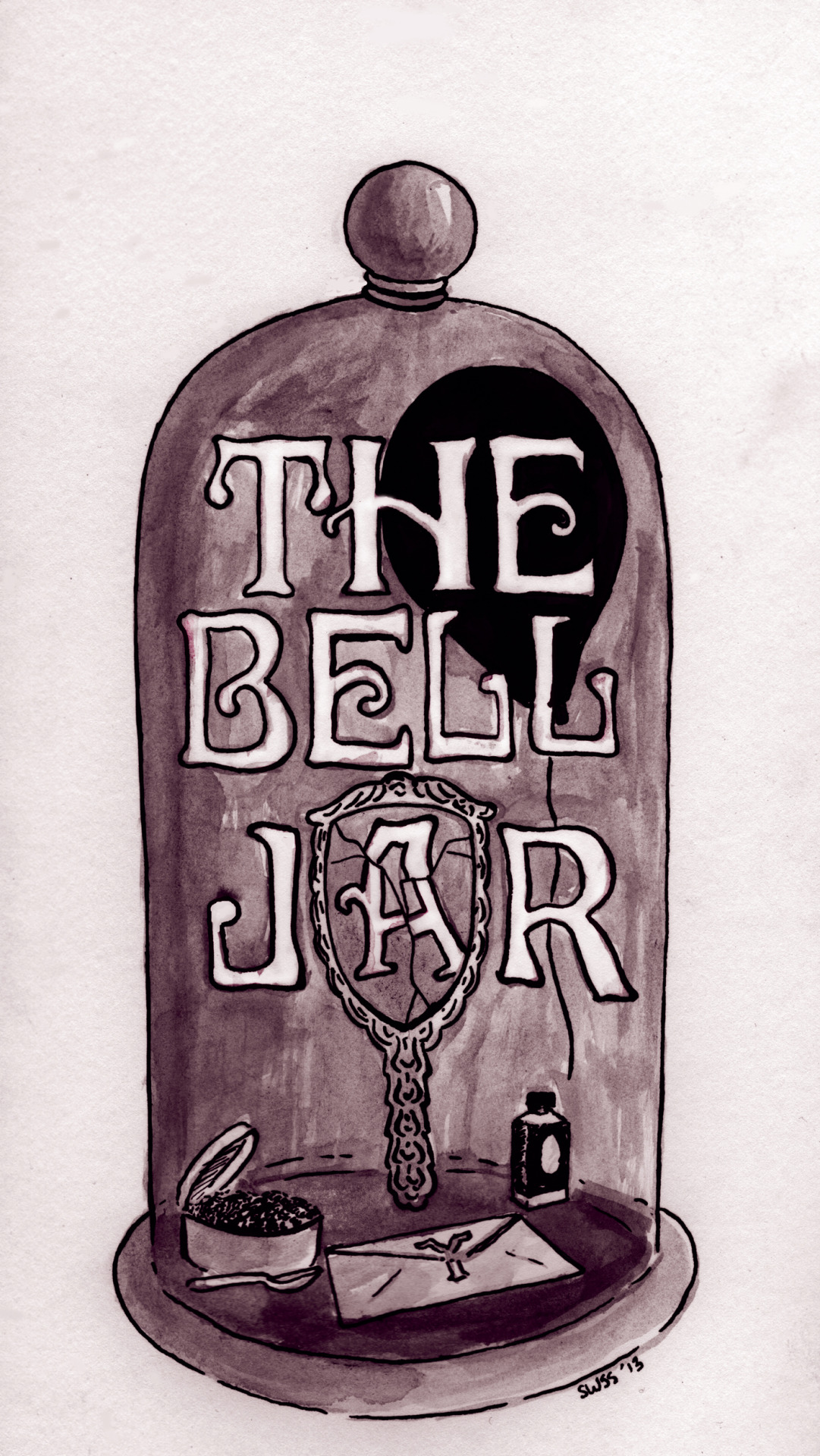 I did an Illustration for what I think The Bell Jar's cover should look like.