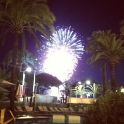 Fireworks are always good to unwind (at Hôtel Martinez)