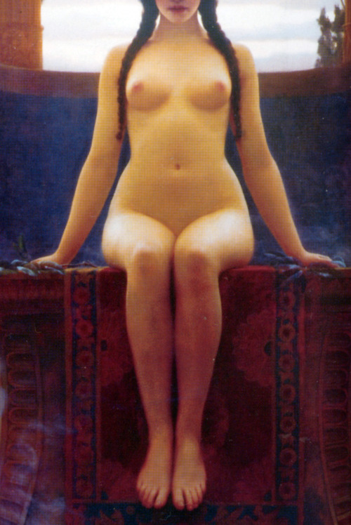 John William Godward (1861-1922) The Delphic Oracle,detail.