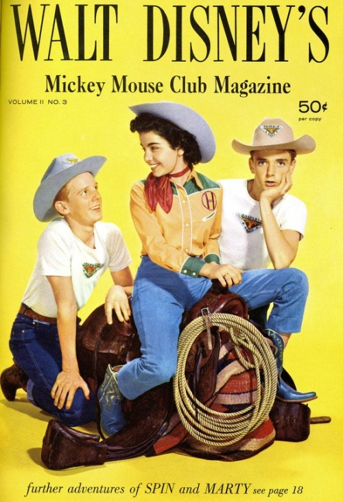 theniftyfifties:  Walt Disney's Mickey Mouse Club Magazine with David Stollery, Annette Funicello and Tim Considine.  The Mickey Mouse Club magazine from the fifties. With iconic Mousketeer Annette Funicello and Tim Considine