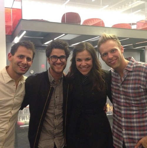 singyourlastsong:  @benjpasek: Post show with 2 of our incredible performers: @lindsaymendez and @darrencriss!