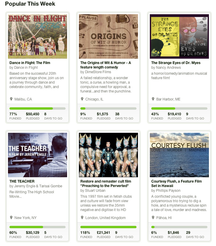 "Well woulda look at that, we're in the Kickstarter ""Popular this week"" section for narrative film! Thanks so much to everyone who has already donated and spread the word! Take that highschool football team!  Find out more about the project here"