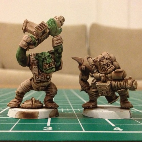 Painting more Orks, work in progress…