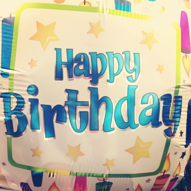 'Happy Birthday' balloon for me at work. ☺ HBD to me 🎈#work #birthday #hbd #maybaby #21 #filipino #filipina #pinay #pinoy #cute #sweet #adorable #colorable #swag #dope #fresh