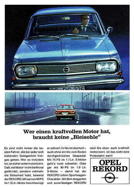 Opel Rekord B (1966) Motor by H2O74 on Flickr.Opel Rekord B (1966) Motor