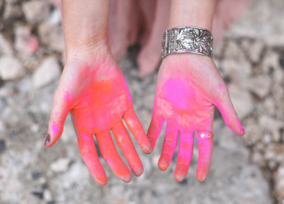 Holi Hands, March 2013