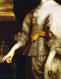 Queen Henrietta Maria After 1632 (Detail)Sir Anthony van Dyck