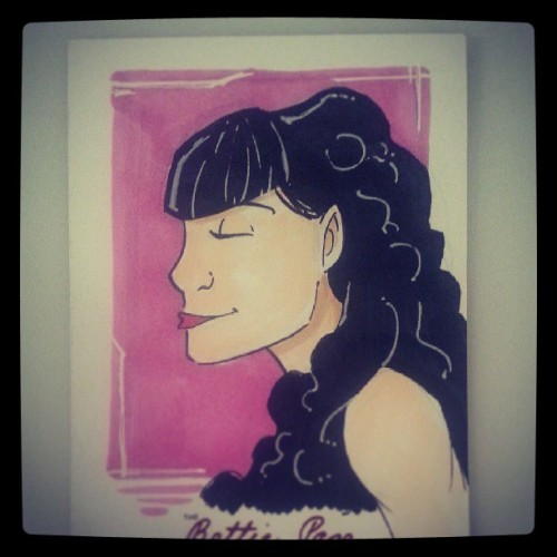 1 of many little somethings im working on #sketch #sketchcard #bettiepage #sketchaday #art #pinup