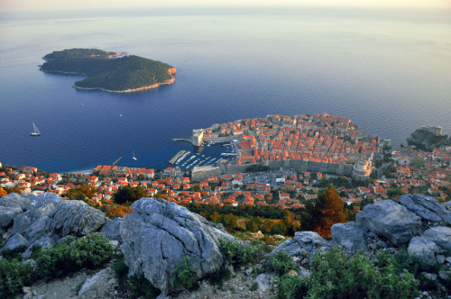 View of the old city of Dubrovnik from the top 18 April 2013, 18.00 CET Location: Dubrovnik, Croatia