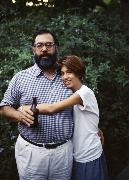 Francis Ford Coppola and Sofia, 1984
