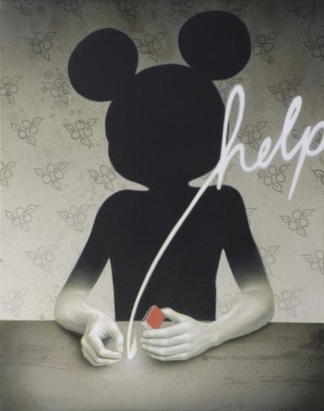 2headedsnake:  Eckart Hahn Help, 2007 acrylic on canvas
