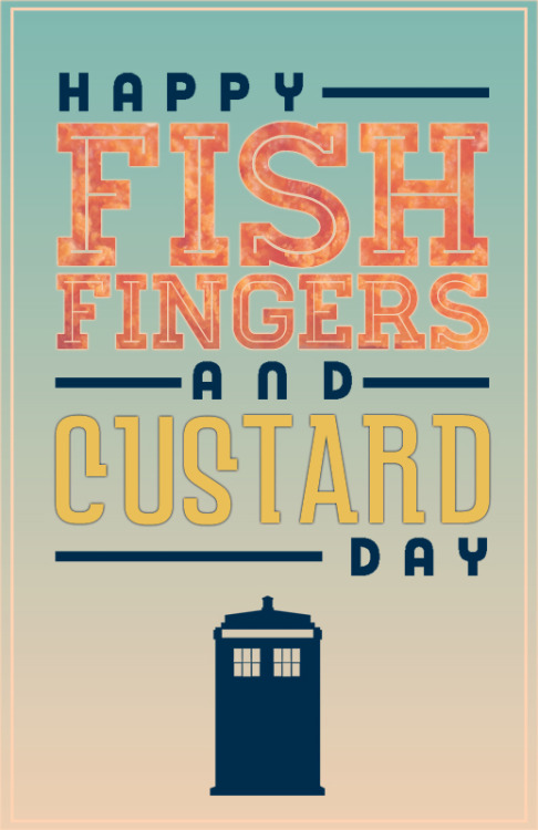 Fish Fingers and Custard Day :)